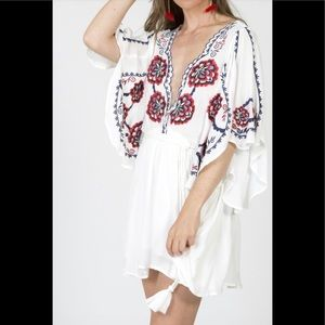 Free People | Cora Embroidered Dress~L